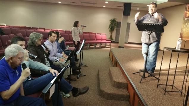 Praise team rehearsal 2