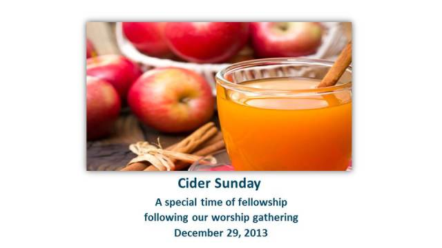 Cider Sunday