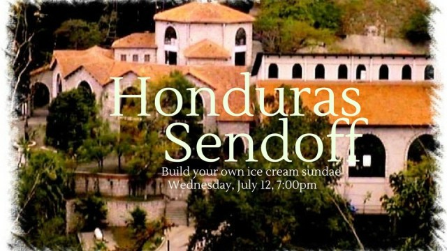 Honduras sendoff