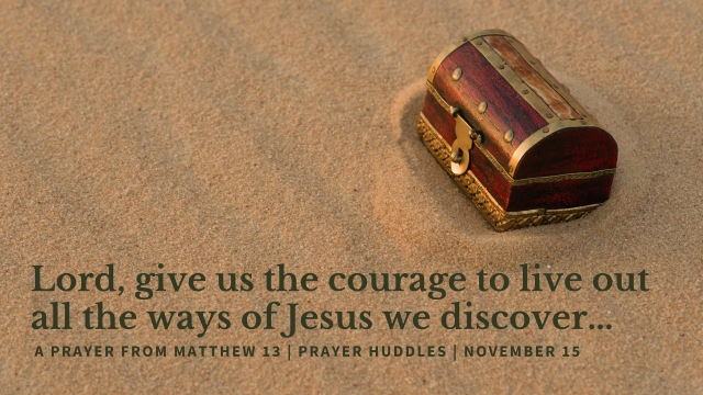 Prayer huddles Nov 15