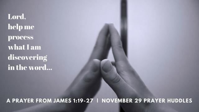 Prayer Huddles prayer based on James 1 (2)