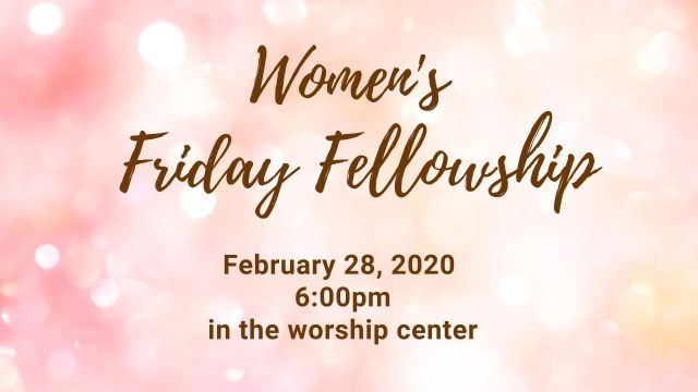Women's Friday Fellowship